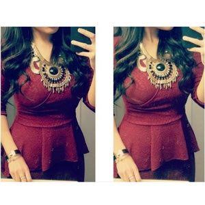 Floor length peplum dress